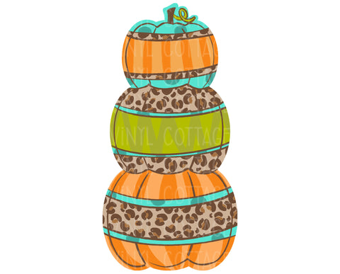 TR777 Leopard Stacked Pumpkins