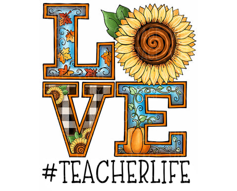 TR781 Sunflower Love Teacher Life