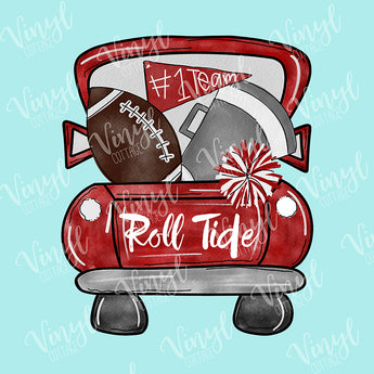 Alabama Tailgate Truck Dye Press Transfer