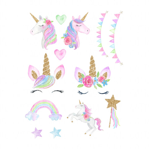 Unicorns Water Slide Sheet