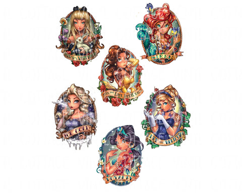 WS133 Tattoo Princesses Water Slides