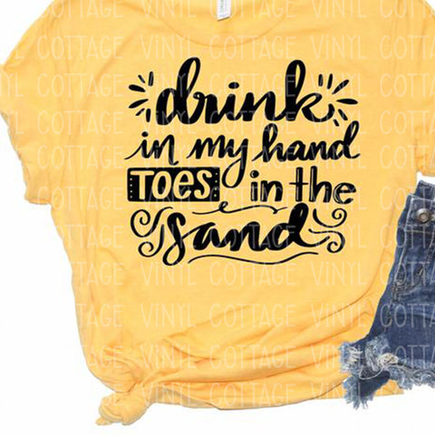 Drink In My Hand Screen Print Transfer