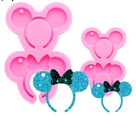 Mr and Miss Mouse Headband Silicone Mold