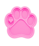 Paw with Small Heart Mold