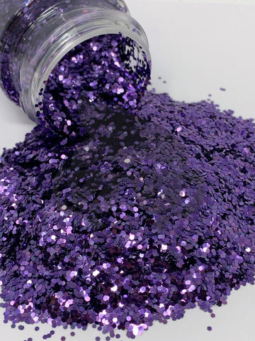 Royal Purple Chunky Glitter