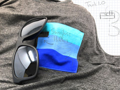 tank top with sunglass holder