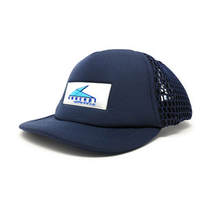 "Trucker Hat with Small ""ball"" Brim and Big Hole Mesh - Concept California - Navy Blue"