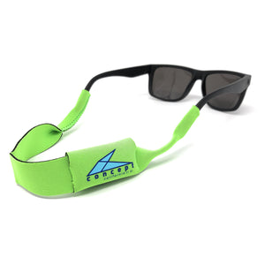 Evolved Sunglass Retainer with Pocket for Microfiber Cloth - Concept California - Neon Yellow