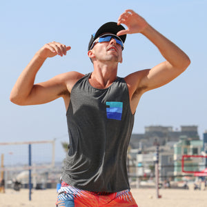 Hermosa Tank Top with Sunglass Holder - Concept California