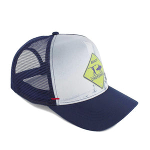 Surfers Crossing Trucker Hat - Hermosa Hat Co.