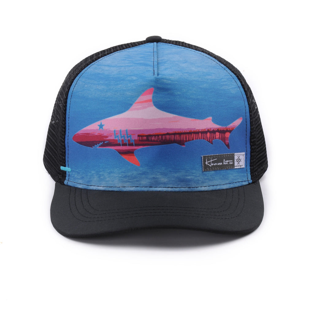 "The ""All Day!"" Trucker Hat - Pier Shark - Hermosa Hat Collection"