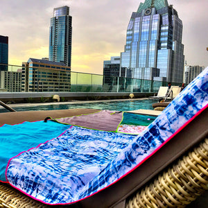 Blue Tie Dye Ultra Functional Towel - TWL by NEONSUN