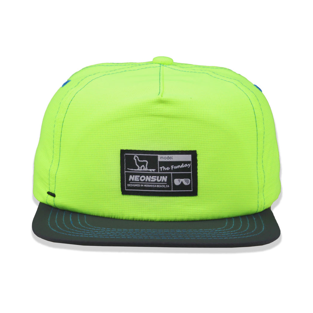 "The ""Funday!"" Unstructured Hat - Yellow/ Grey - NEONSUN"