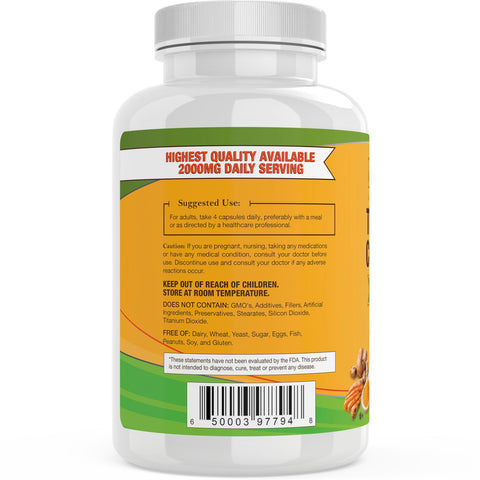 Turmeric Curcumin with Bioperine 2000mg - 3 Bottle Bundle