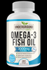 Image of Omega 3 Fish Oil 3000mg. Superior Triglyceride Form (TG). 100% Wild Caught Fish. 1080mg EPA & 810mg DHA Per Serving. Enteric Coated (No Fishy Burps). 180 Softgels