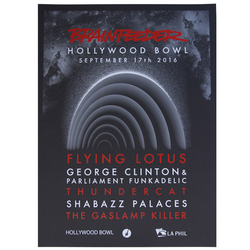 Brainfeeder Hollywood Bowl 2016 Cardstock Poster (18