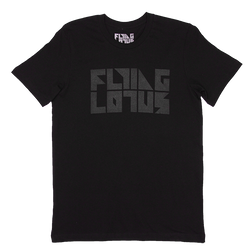 Black 3M Flying Lotus Logo Tee