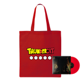 Dragonball Durag Tote (Red) + It Is What It Is Red Vinyl Bundle