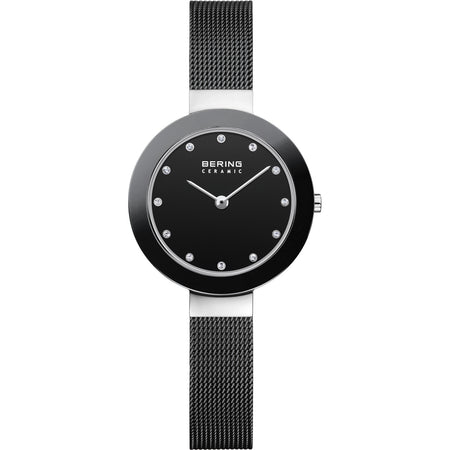 Ceramic Black Mesh Watch