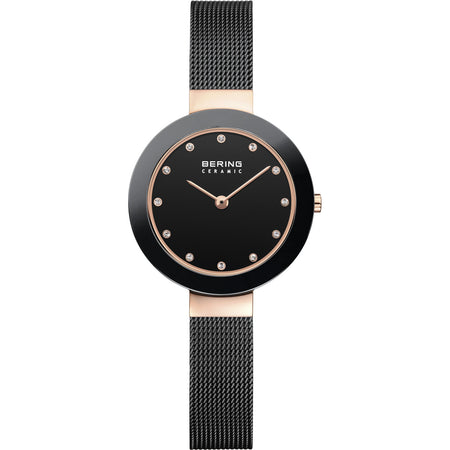 Ceramic Black & Rose Watch