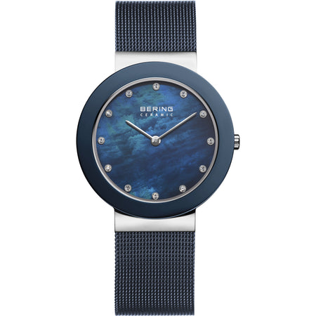 Ceramic Mother of Pearl Mesh Watch