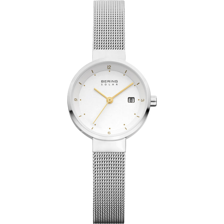 Slim Solar Silver Watch