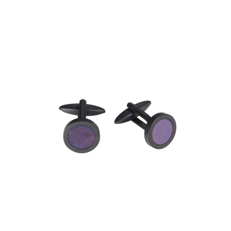 Black & Purple Cufflinks