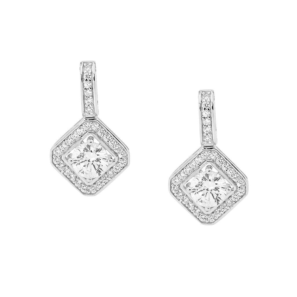 Diamond Shape Drop Earrings