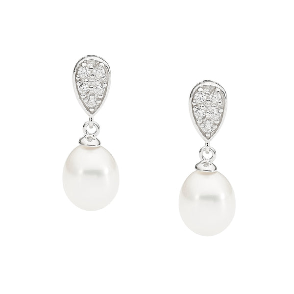 Pear-shape & Pearl Earrings