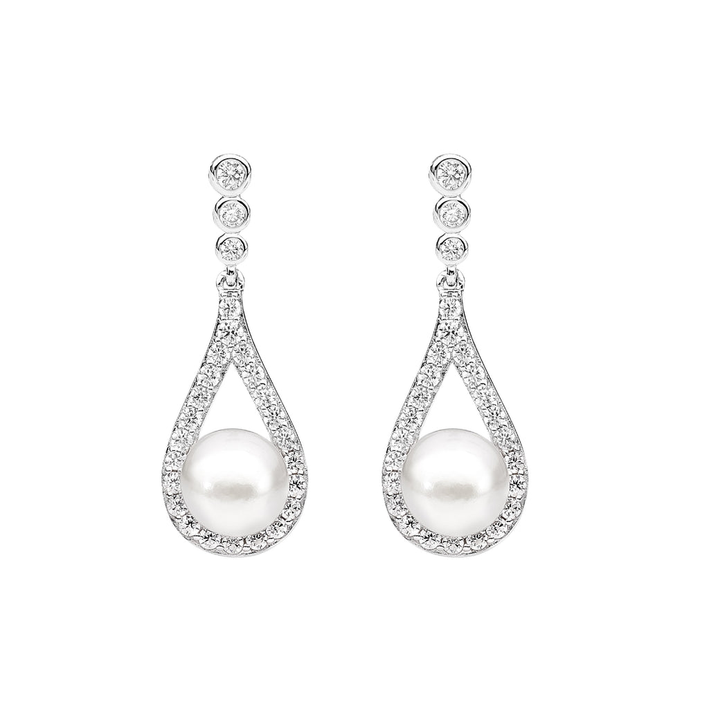Pear Pearl Earrings