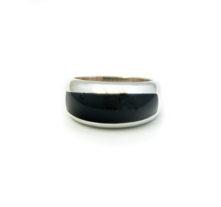 Onyx Domed Mens Ring