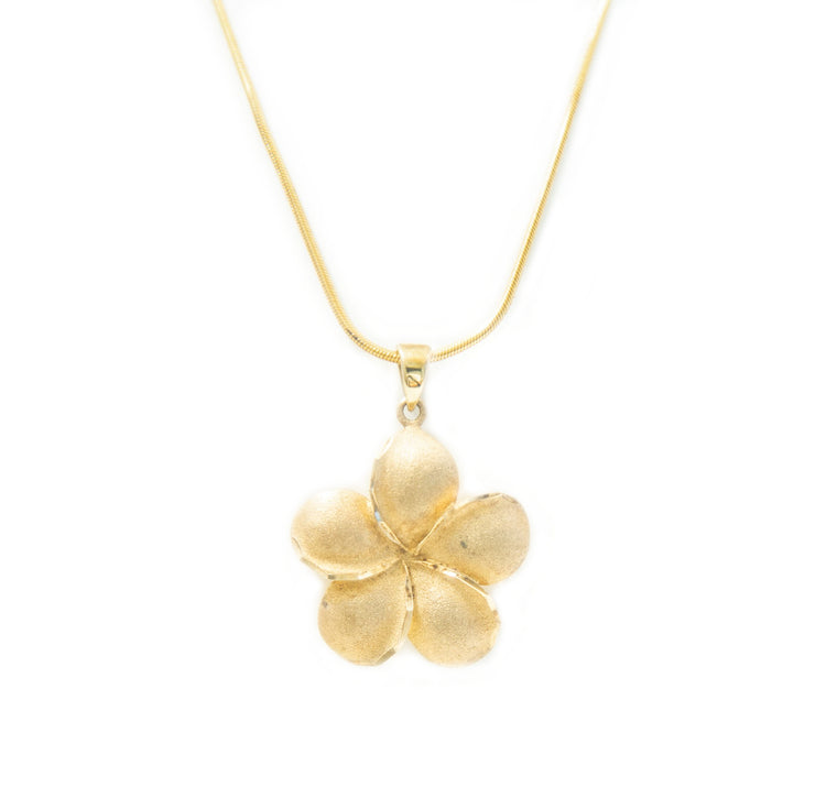 Frosted Flower Pendant