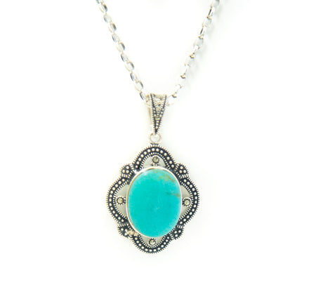Turquoise & Marcasite Necklace