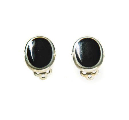 Onyx Clip-on Earrings