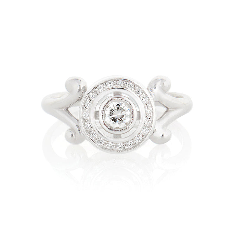 Round Art Deco Ring