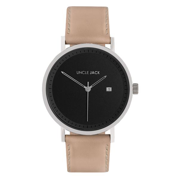 Nude Silver & Black Watch