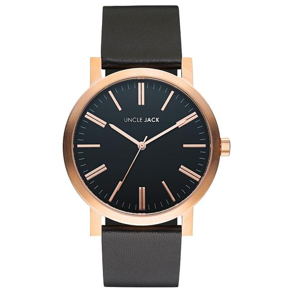 Rose Gold & Black Watch