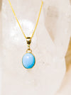 Turquoise Yellow Gold Necklace