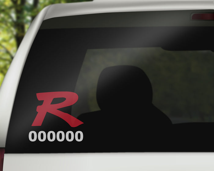 Civic Type R Decal with Cars Personal Production Number