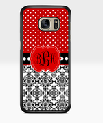 Red Monogram Destash Samsung Case