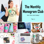 The Monthly Monogram Club - Tier 1 Subscription Box