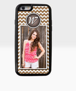 Brown Chevron Monogram Photo Case - Dxdecor