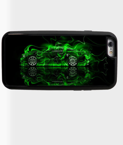 Green Mustang with Flames - Dxdecor