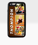 Orange Three Photo Phone Case Collage - Dxdecor