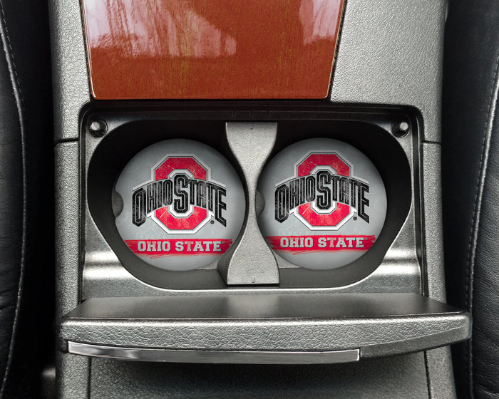 Ohio State University Grunge Car Coasters