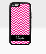 Pink Chevron with Name - Dxdecor