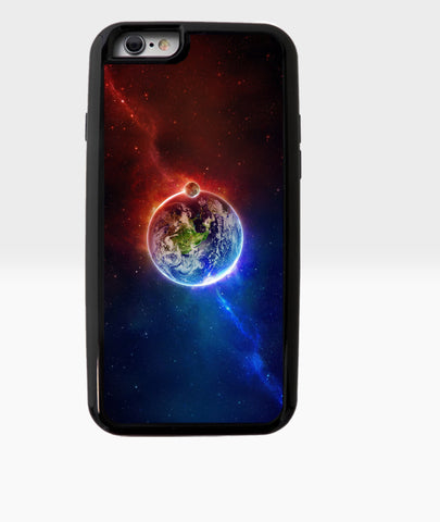 Red and Blue Earth Galaxy - Dxdecor