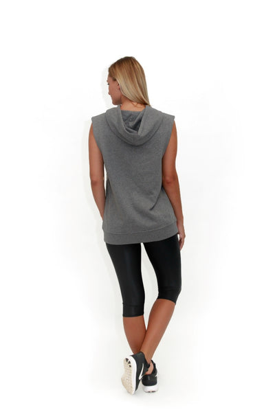 BA Arc Sleeveless Hoodie Grey