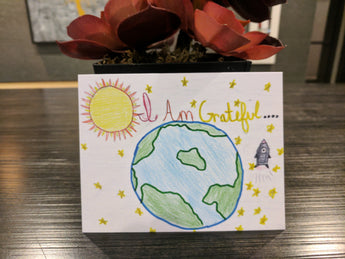 Say It With Gratitude Earth Design - 1 Pack of 8 Cards