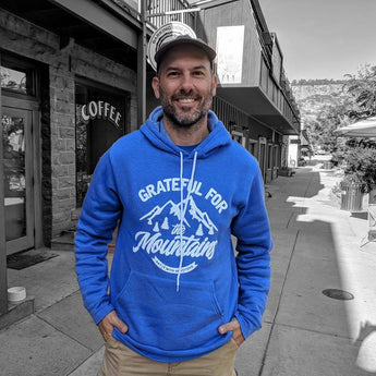 Grateful For The Mountains Fleece Pullover Hoodie [OUT OF STOCK]